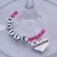 Godmother Wine Glass Charms
